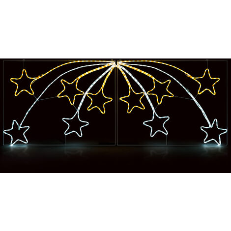 Christow 2.2m LED Flashing Star Scene Rope Light