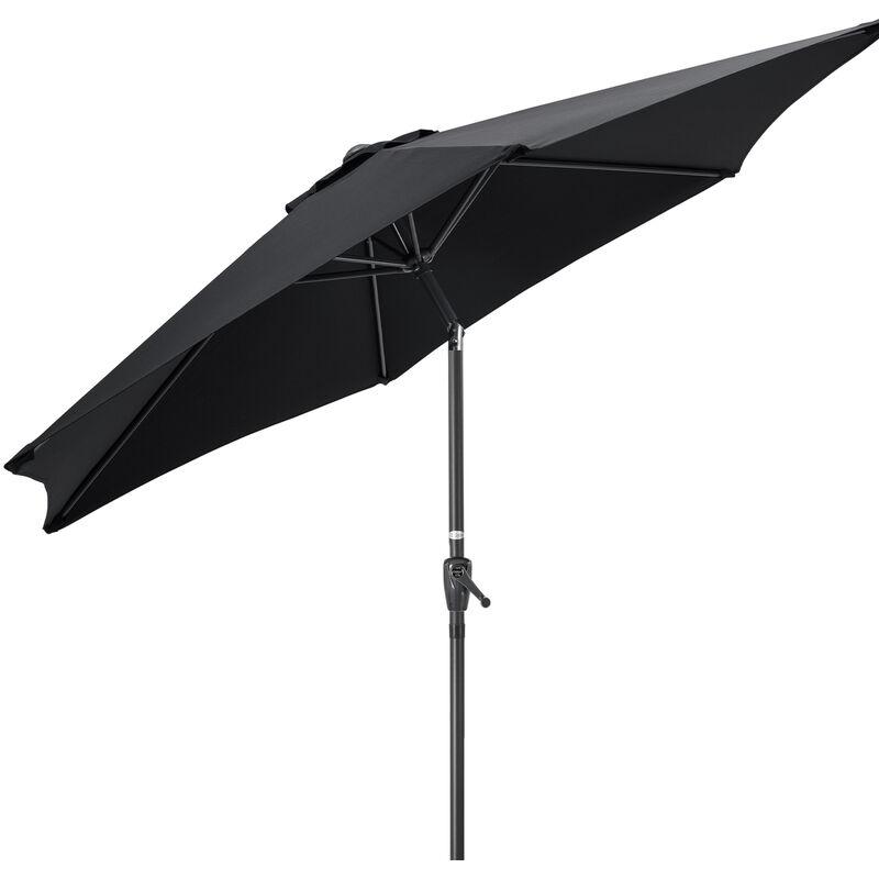 Black Banana 2M Aluminum Crank Outdoor Sun Shade Parasol Umbrella Patio w//Base