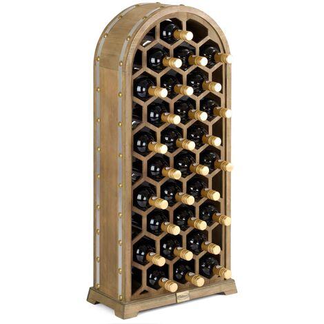 Christow 27 Bottle Rustic Wooden Honeycomb Wine Rack