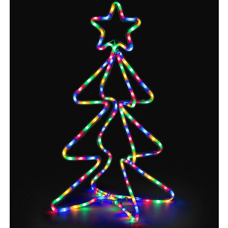 Christow 3D Christmas Tree Rope Light
