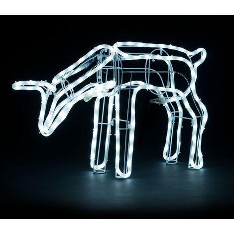 Christow 3D Grazing Reindeer Rope Light