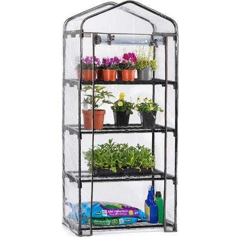 Christow 4 Tier Mini PVC Greenhouse