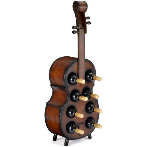 Christow 8 Bottle Wooden Cello Wine Rack