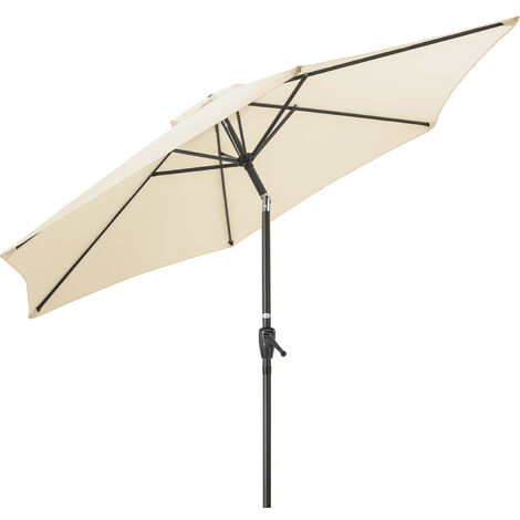 Christow Aluminium 2m Tilting Parasol With Crank Handle - Cream