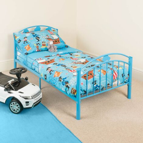 Christow Blue Metal Toddler Bed Frame