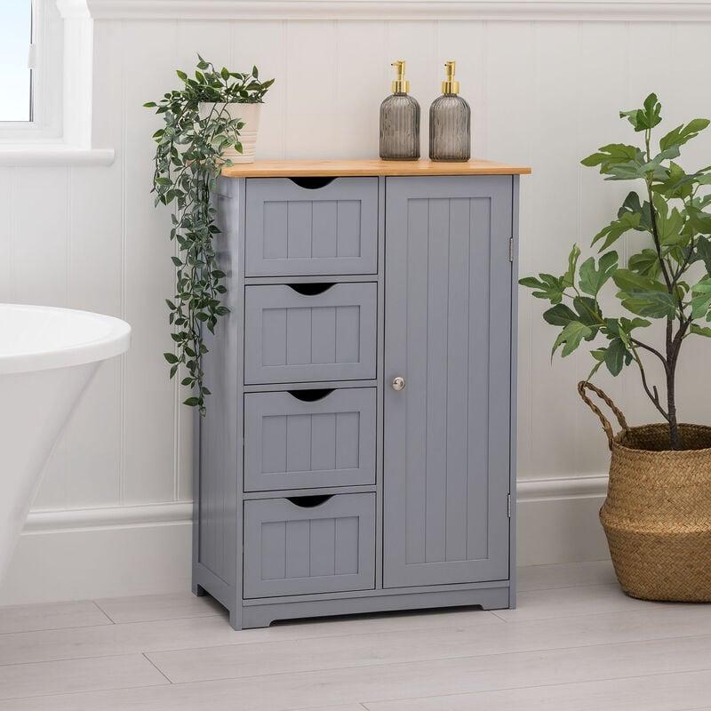 Bamboo 4 Drawer Bathroom Cabinet