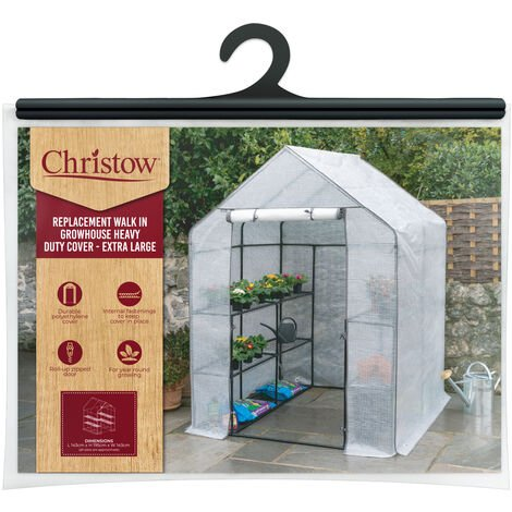 Christow Large Reinforced Walk-In Greenhouse Cover Replacement