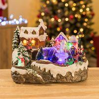 Christow LED Christmas Village Scene & Fountain