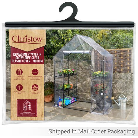 Christow Medium PVC Walk-In Greenhouse Cover Replacement
