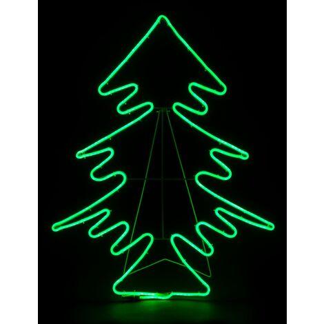 Christow Neon Effect Standing Christmas Tree Rope Light
