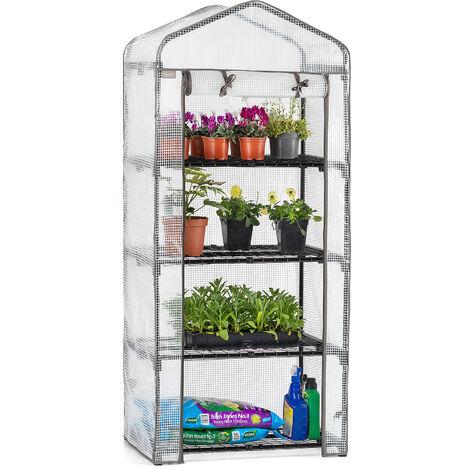 Christow Reinforced 4 Tier Mini Greenhouse