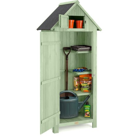 Christow Small Narrow Garden Shed With Roof Hatch
