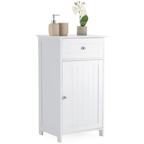 Christow Small White Bathroom Cabinet