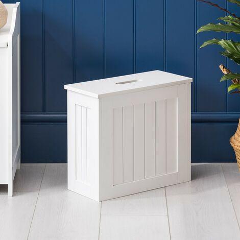 Christow Small White Bathroom Storage Unit