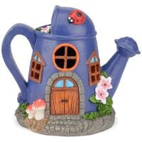 Christow Solar Powered Watering Can Fairy House – Purple