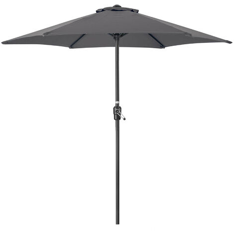 Christow Steel 2m Parasol With Crank Handle