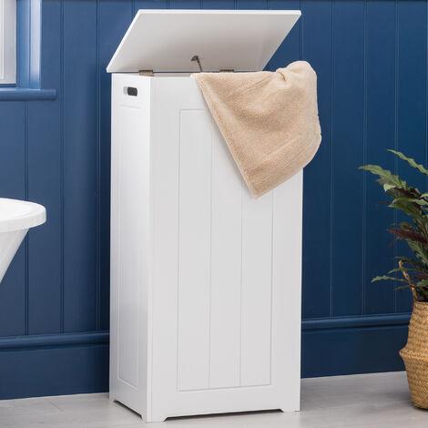 Christow White Bathroom Laundry Cabinet