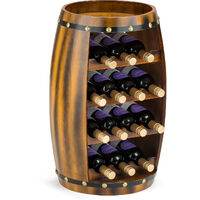 Christow Wooden Barrel 14 Bottle Wine Rack