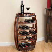 Christow Wooden Barrel 23 Bottle Wine Rack
