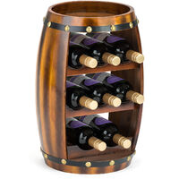 Christow Wooden Barrel 8 Bottle Wine Rack