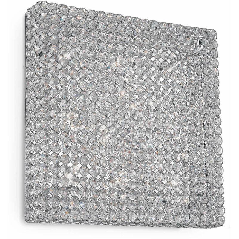 Chrom Deckenleuchte ADMIRAL Kristall 10 Glühbirnen