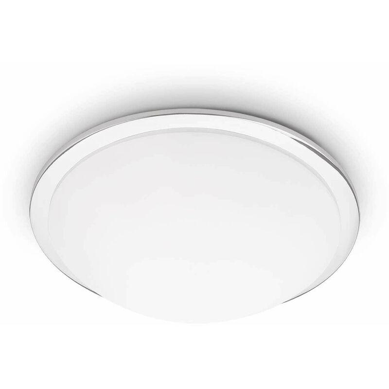 01-ideal Lux - Chrom Deckenleuchte RING 3 Glühbirnen