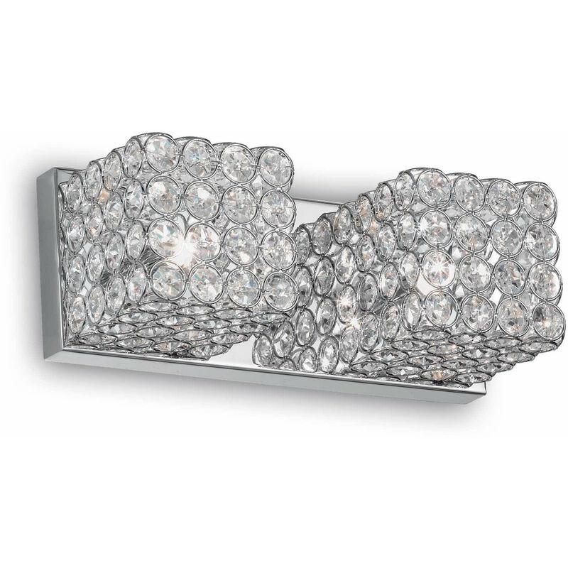 Chrom Kristall Wandleuchte ADMIRAL 2 Glühbirnen - 01-IDEAL LUX