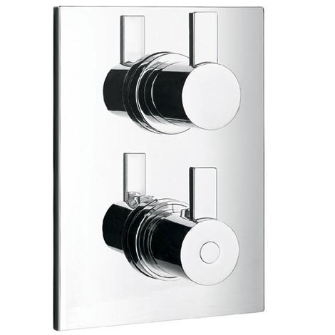 chrom thermostat duscharmatur eckig armatur. Black Bedroom Furniture Sets. Home Design Ideas