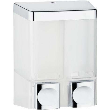 Seifenspender Doppelt Shampoo Flüssigseife Seife Chrom Wandmontage Sanlingo