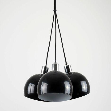 Chrome 3 Way Droplet Ceiling Light s 6W LED GLS Bulbs Warm White