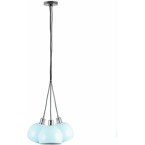 Chrome 3 Way Suspended Droplet Ceiling Light