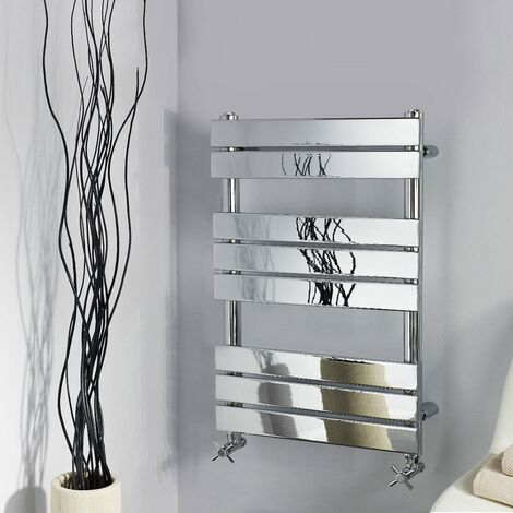 Chrome 800 X 600 Flat Panel Heated Towel Rail Bathroom Designer Radiator