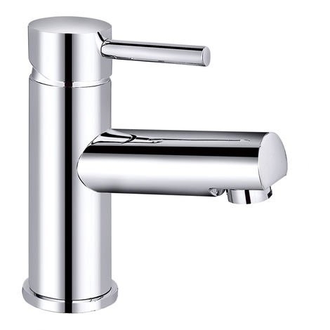 Chrome Basin Sink Mixer Tap Modern Bathroom Lever Faucet