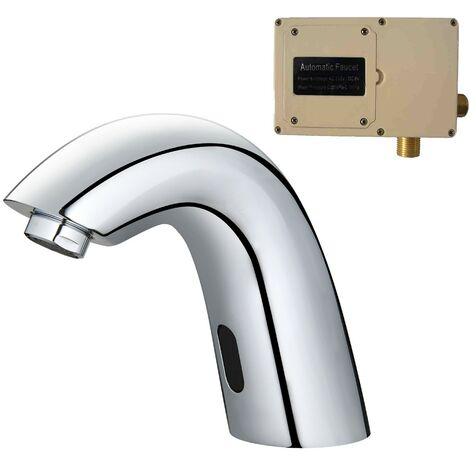 Chrome Basin Sink Mono Mixer Tap Infrared Sensor Activated Automatic Hygienic