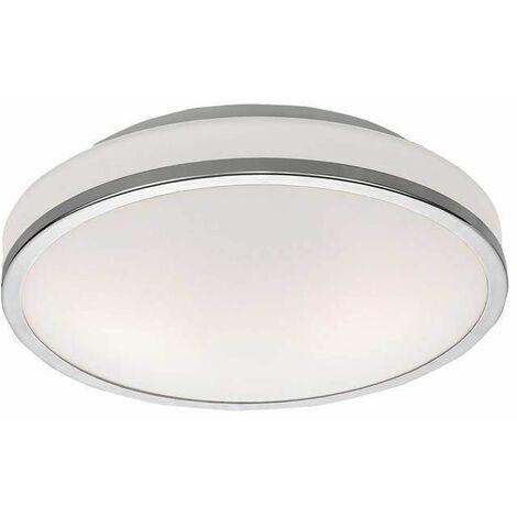Chrome bathroom ceiling light 2 Bulbs Diameter 28 Cm
