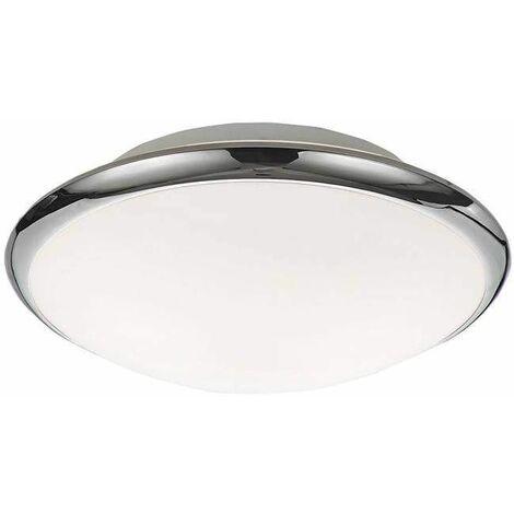 Chrome bathroom ceiling light 2 Bulbs Height 11 Cm