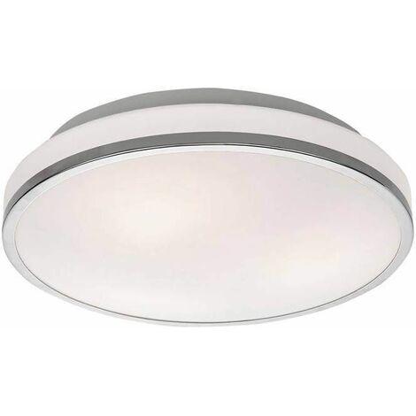 Chrome bathroom ceiling light 3 Bulbs Diameter 34 Cm