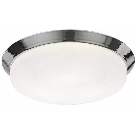 Chrome bathroom ceiling light 3 Bulbs Diameter 39 Cm