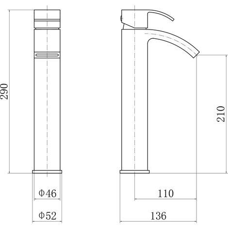 Chrome Bathroom Tap Type B