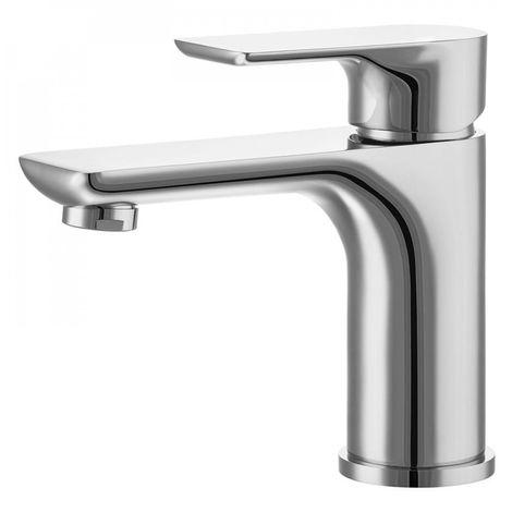 Chrome bathroom washbasin mixer