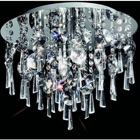 Chrome ceiling light IP44 4 Bulbs