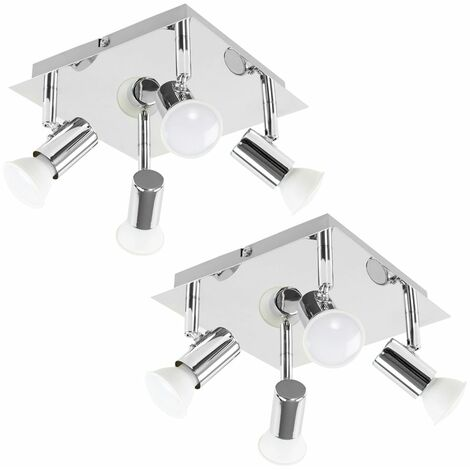 Chrome Ceiling Spotlights Pair Of Square 4 Way Spotlights Fittings Lights