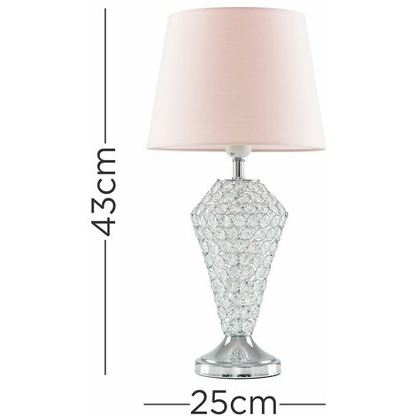 Home Crystal Touch Table Lamp Clear