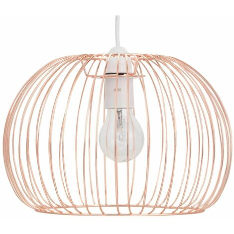Chrome, Copper, Satin Brass Ceiling Light Shade, Metal Wire Ceiling Pendant Shade, Easy Fit, No Wiring Required, Bedroom, Living Room Light Shade