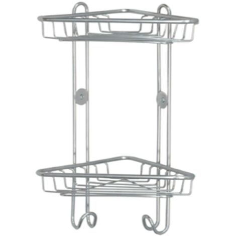 Chrome Double Basket with Hooks