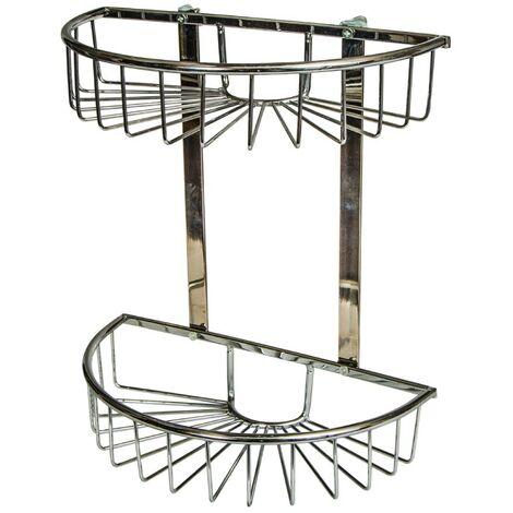Chrome Double Round Basket