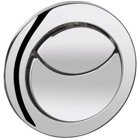 Chrome Dual Flush Push Button