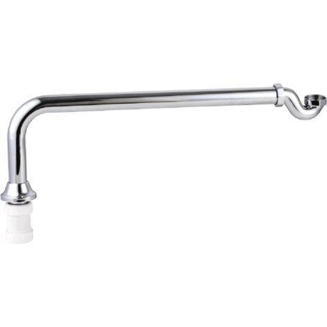 Chrome Exposed Shallow Bath Trap & Pipe