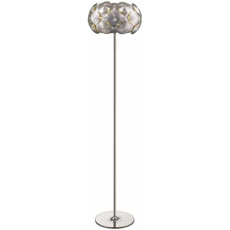 Image of Chrome Floor Lamp CHESTER 4 Lights