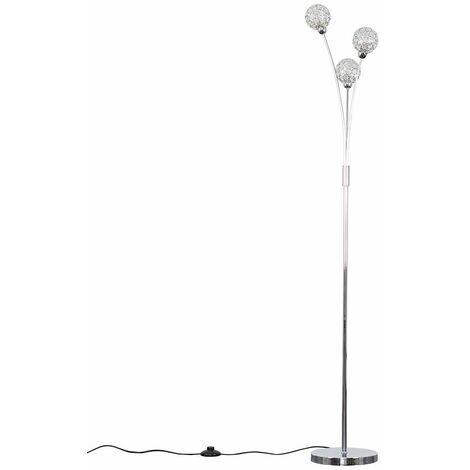 "main image of ""Chrome Floor Lamp Living Room Light 3 Way - Add LED Bulbs"""